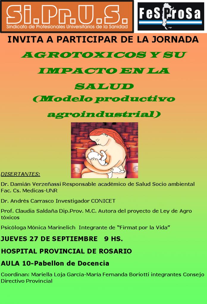 Jornada Agrotóxicos y su impacto en la Salud