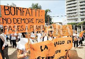 El gremio reclama la apertura de las paritarias y que se mejoren las condiciones de trabajo en hospitales y centros de salud. Foto: Mauricio Garín