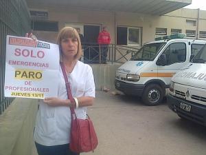 Siprus - Paro - Hospital Cullen - Foto Twitter Verónica Ensinas - Lt10 Digital.