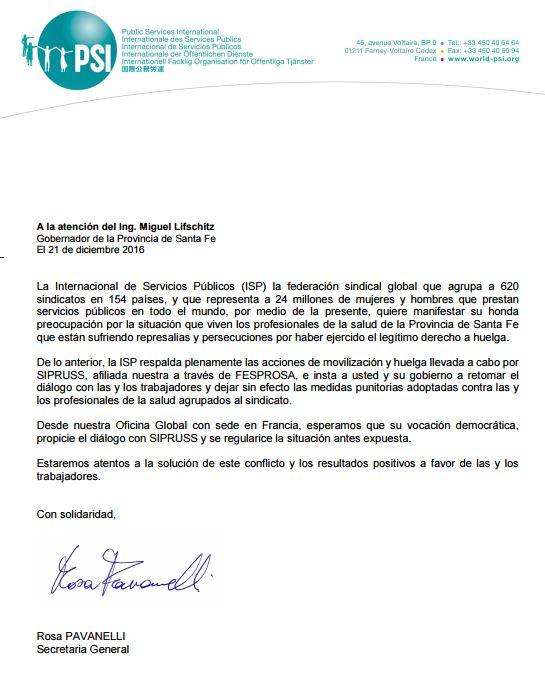 Nota Internacional de Servicios Públicos (ISP)