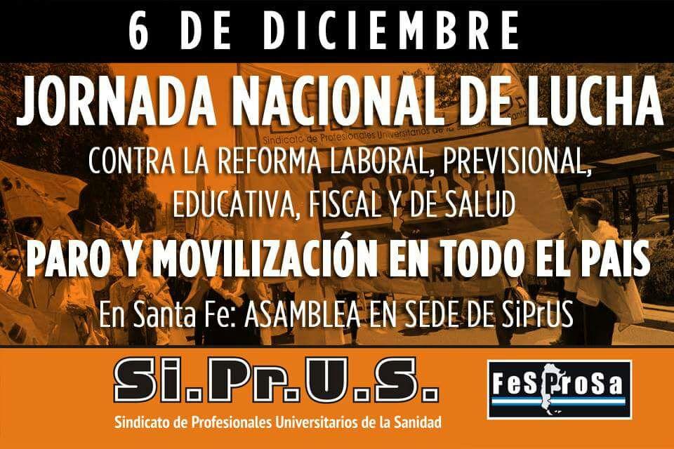 En el marco del Paro Nacional de Salud, SIPRUS defiende los derechos de los trabajadores y de la población