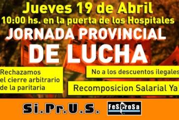 Jueves 19 de abril Jornada Provincial de lucha