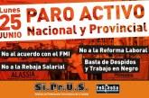SIPRUS adhiere al paro nacional del lunes 25