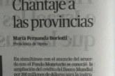 Ministerio de Salud chantajea a las Provincias