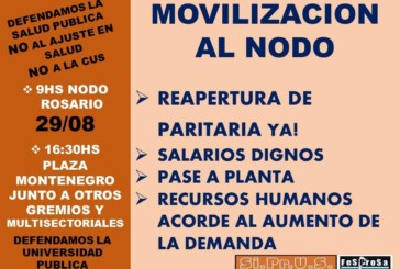 Movilización – miércoles 29 //  Regional Rosario