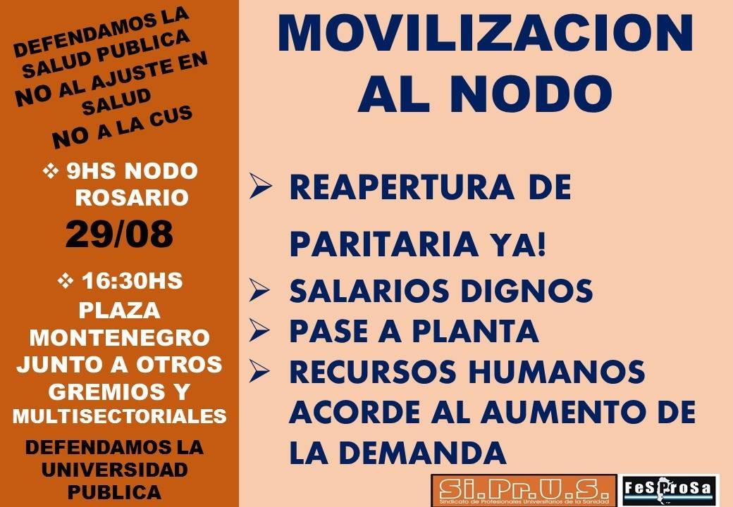 Movilización - miércoles 29 //  Regional Rosario