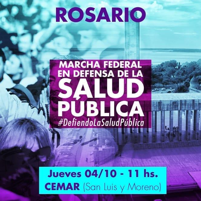 Rosario, marcha federal en defensa de la Salud Pública