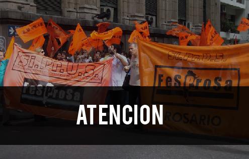 REGIONAL ROSARIO: JUEVES 21 A LAS 10,30 HS CONCENTRAMOS EN PLAZA 25 DE MAYO y MOVILIZAMOS
