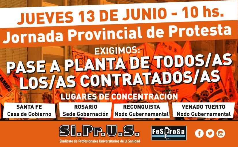 Monotributistas. Jornada provincial de protesta JUEVES 13/06
