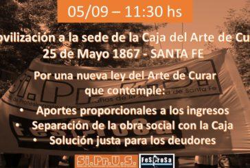 Movilización Caja del arte de curar Santa Fe