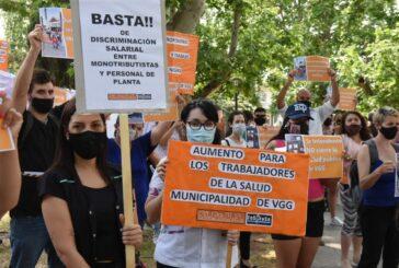 Paran los profesionales de la salud de Villa Gobernador Gálvez por tiempo indeterminado