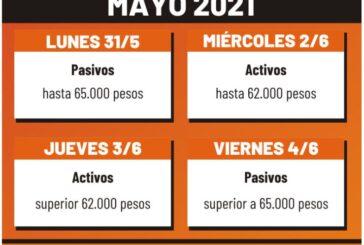 Cronograma de pago - Mayo 2021